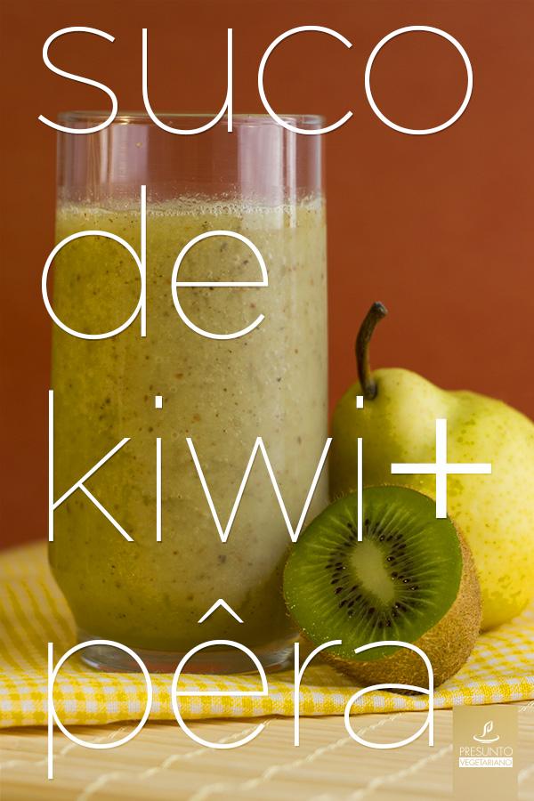 Suco de Kiwi e pêra