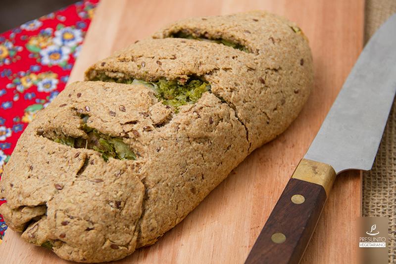 Pão Integral Recheado com Brócolis