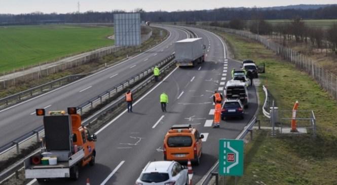 Nalet večih vozil na avtocesti