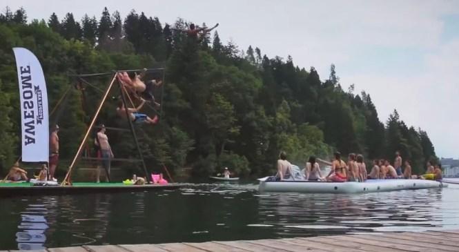 Neverjetna vodna zabava na Blejskem jezeru!