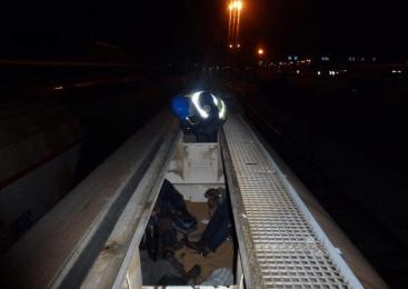 Policisti na vagonih naloženih z lesom odkrili sedem državljanov Maroka in državljana Iraka