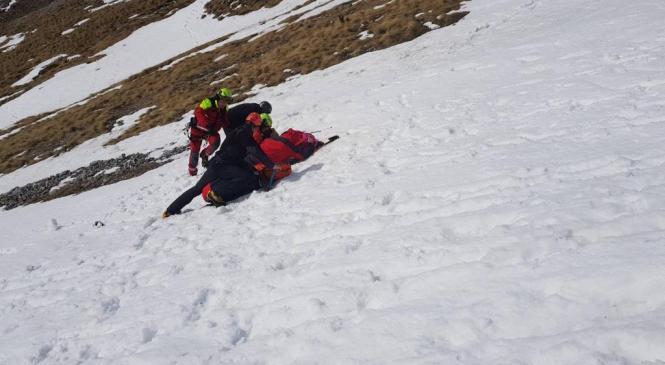 Gorski reševalci pomagali poškodovani planinki
