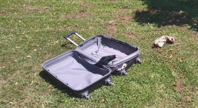 Najdba sumljivega kovčka na Kapiteljski ulici v Novem mestu