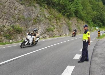 Koprski policisti izvedli poostren nadzor motoristov v prometu