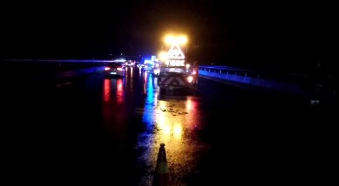 Močno vinjena voznica povzročila prometno nesrečo na avtocesti