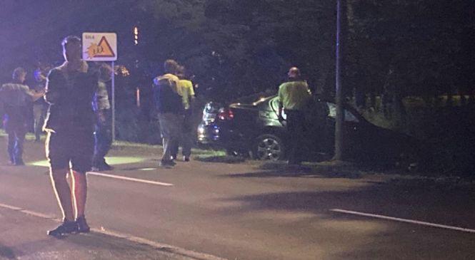 V prometni nesreči poškodovani dve osebi