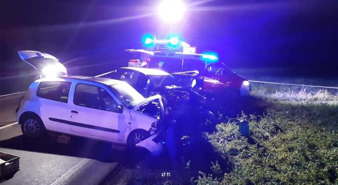 Huda prometna nesreča na območju Cerknice