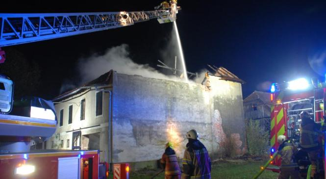 Požar na gospodarskem objektu v Petrovčah