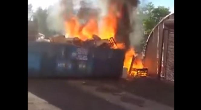 Murska Sobota: V treh dneh kar 5 požigov zabojnikov za smeti