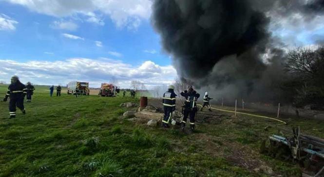Požar popolnoma uničil piščančjo farmo