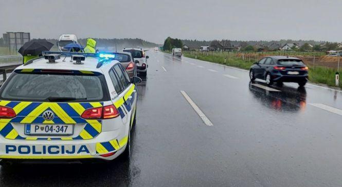 Današnje jutro sta se na gorenjski avtocesti zgodili že dve nesreči