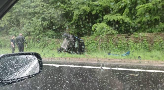 Nesreča na Pomurski avtocesti v smeri Murske Sobote, nastajajo zastoji