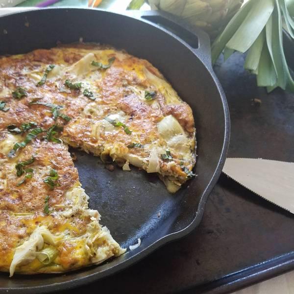 This Artichoke Pesto Leek Frittata is new on the blog!hellip