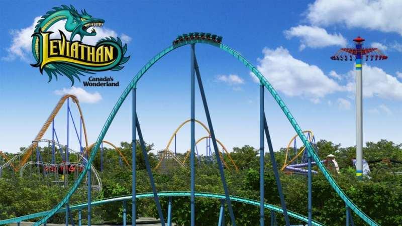 Top 10 snelste achtbanen ter wereld - 9 Leviathan