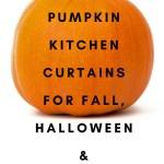Pumpkin Kitchen Curtains 2020 For Fall Halloween Home Kitchen Decor