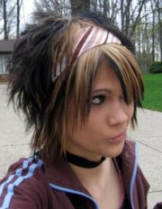 pretty emo hairstyles girls