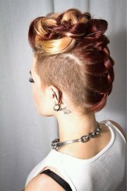 fascinating long mohawk hairstyle