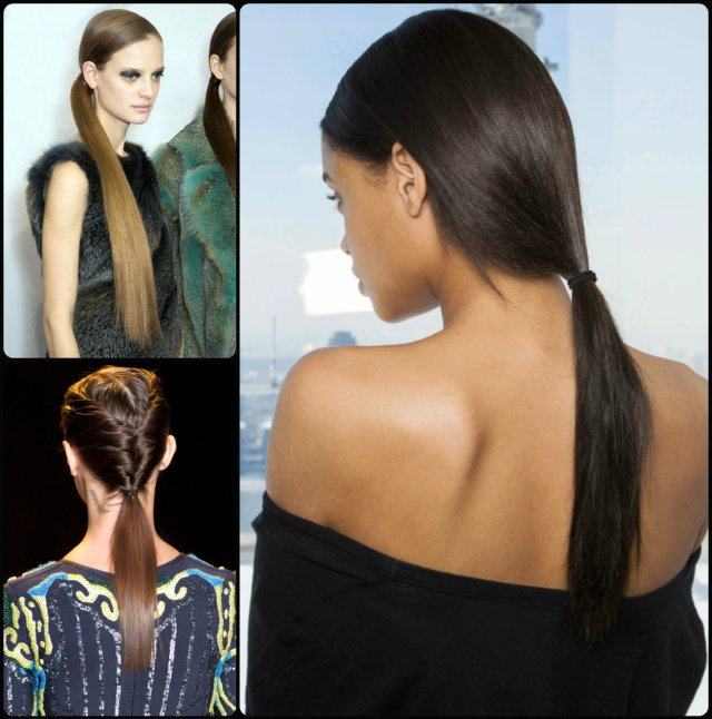 runway ponytail hairstyles for fall 2015 | hairstyles 2017