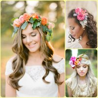 Summer Bridal Hairstyles With Flowers 2015