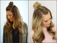 Half Up Half Down Top Knots Best For Summer Time ...