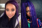 black women colourful box braids