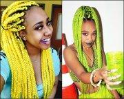 black women colourful box braids