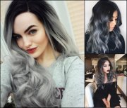 magnifying ombre grey hair colors