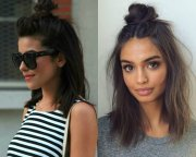flirty top knots hairstyles