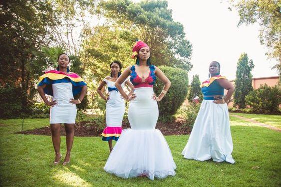 African Shweshwe Wedding Dresses For Ladies