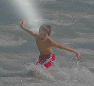 Boy in Ocean, Cocoa Beach, FL