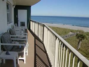 Balcony with ocean view, Cocoa Beach, Florida