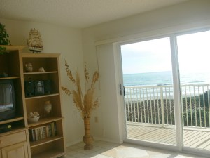 Sun-Filled Ocean-View Living Room in Cocoa Beach