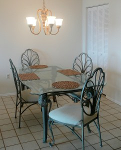 Formal dining area at The Mark in Cocoa Beach