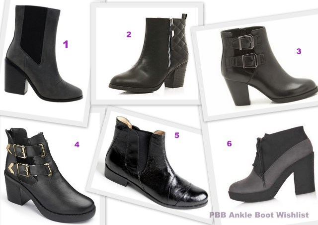 Ankle Boots Wishlist