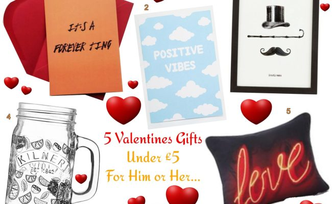 5 Valentines Gift Under 5 For Him Or Her