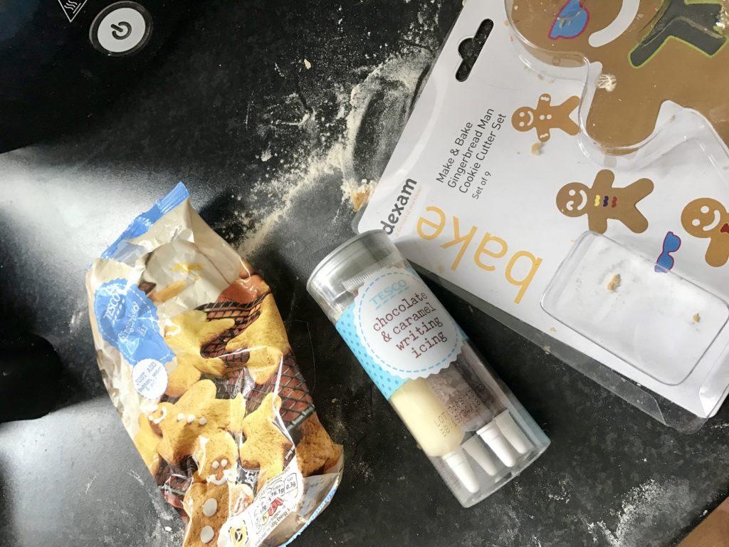 Homemade gingerbread men from Tesco