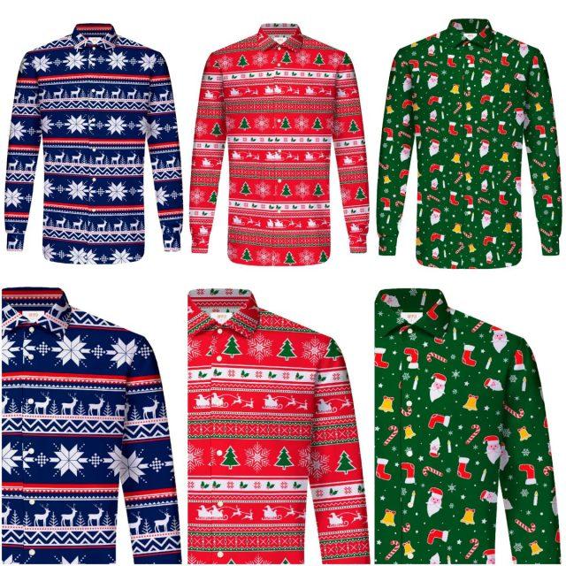 Grappige overhemden voor de kerstborrel