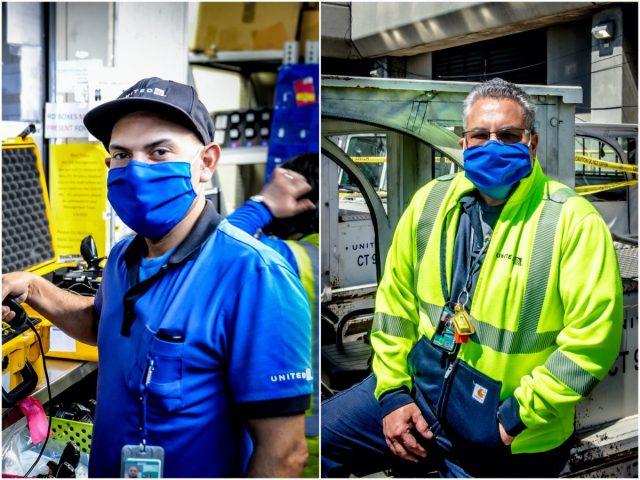 United Airlines maakt mondmaskers van bedrijfskleding