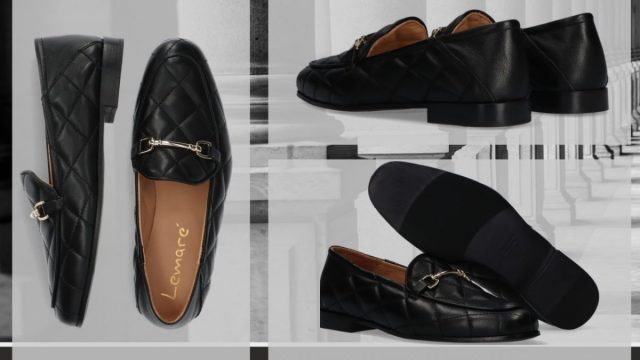 3x platte schoenen onder een rok