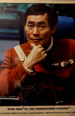 My autographed picture of George Takei right after Undiscovered Country
