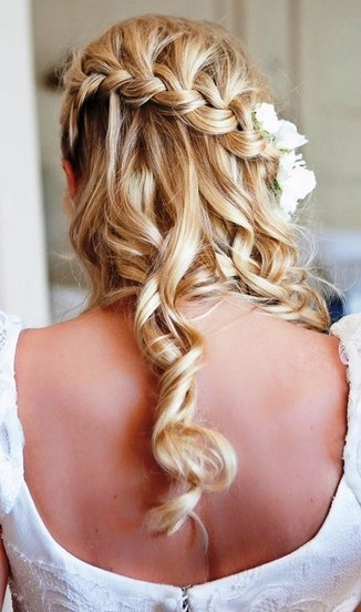 Curly Hair Side Braids Fantastic Wedding Hairstyles With Braids Pretty Designs