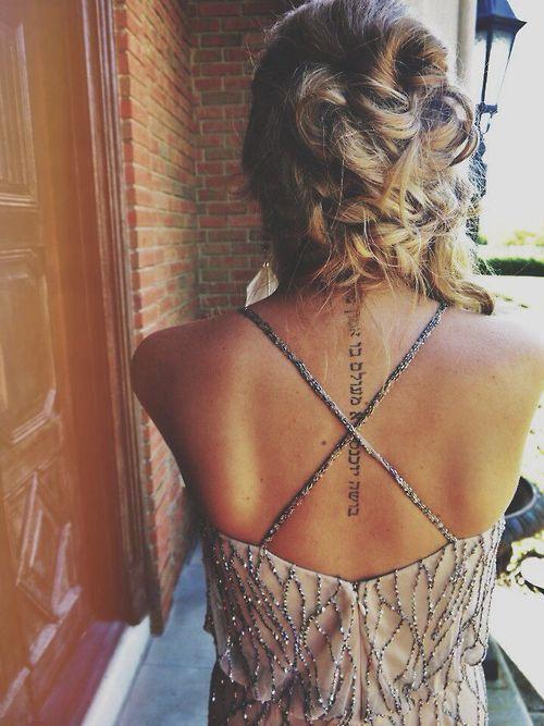 Back Writing Tattoos : writing, tattoos, Written, Tattoo, Designs, Pretty