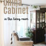 How To Organize A China Cabinet In The Living Room Idea