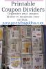 Printable Coupon Dividers