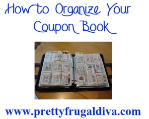 how to organize your coupon book