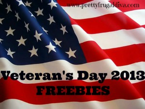 veterans day freebies 2013