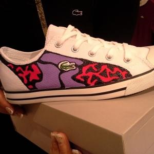 lacoste custom shoes