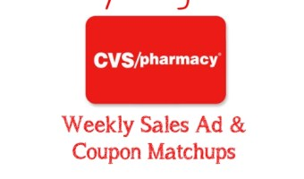 CVS Weekly Sales Ad and Coupon Matchup 12/8 – 12/14