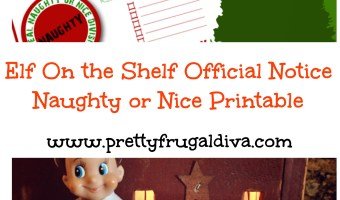 Elf On Shelf: Official Naughty or Nice Notice Printable