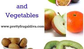 January Seasonal Fruit and Vegetables